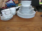 6 PLACE SETTING Mid-Century Noritake China Greenwood #5769  PLATES, CUPS, BOWLS
