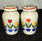 PEPPER SHAKER SET w/ TULIP LIDS* MINT*