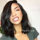 Deep Curly Heat Resistant Synthetic Lace Front Wigs With Baby Hair Black Women