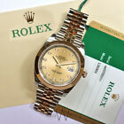 Rolex Mens 126303 41mm 18K Yelow Gold Datejust II Champagne Diamond Dial Watch