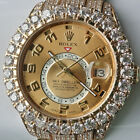 Rolex Sky-Dweller 18K Yellow Gold 326938 Fully Loaded Iced Out 42mm Mens Watch