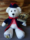 NEW USPS Christmas at Valley Forge Stamp Beanie Bear Plush 9.25