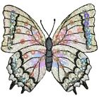 Sequin Butterfly Applique Patch White 3 1 8 Iron on
