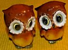 VINTAGE RARE OWL SALT AND PEPPER SHAKERS 60S 70S Japan Stickers Affixed