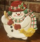 Fitz & Floyd PLAID CHRISTMAS Canape plate / Cookie plate, 9 1/2