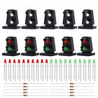 JTD21 10 sets Target Faces With LEDs Railway Dwarf signal HO OO Scale 2 Aspects