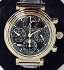 SERVICED Stainless IWC DaVinci Perpetual Calendar 3750 Moonphase-Chronograph