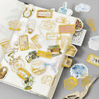 45Pcs pack Retro Gold Silver Scrapbook Stickers Diary Hollow Label Decal Sticker