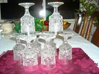 ANCHOR HOCKING WEXFORD (8) WINE GOBLETS 5- 1/4 in. H