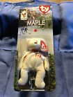 Vintage MAPLE TY BEANIE BABY Ronald Mcdonald House Charites DOB 7/1/96 NIP