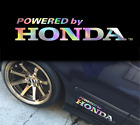Powered By Honda Holographic Oil Slick Chome Windshield Sticker Jdm Mugen Decal