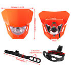 Orange Dirt Bike Motorcycle Headlight Fairing Enduro Cross Dual Sport Dirtbike