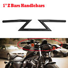 Black Motorcycle Drag Z Bars 1 Inch Handlebars for Harley Sportster Dyna Bobber