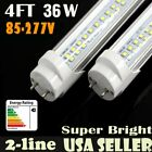 LOT LED 4FT 36W T8 Light Tube Double Line Fluorescent Bulb Replacement 6000K MG