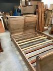 solid wood king size sleigh bed ex display
