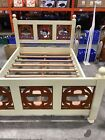 shabby chic Double bed EX DISPLAY solid wood double bed