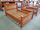 solid wood double bed ex display