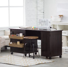 Portable Wood Sewing Craft Hobby Table Desk Work Station Home Office Art Rolling
