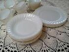 VTG Anchor Hocking Dish Ware...Oven Proof White Gold Trim Made U.S.A