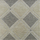 Ivory Grey Linked Diamond Woven Upholstery Fabric Fabric By The Yard