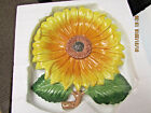 1999 Fitz & floyd Bountiful Blossoms Sunflower Canape Plate