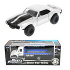 Fast  Furious Diecast Set Flat Bed Tow Truck w Romans Chevy Camaro Off Road