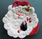 Fitz and Floyd YULETIDE HOLIDAY Santa Face Christmas Canape Plate YULETIDE
