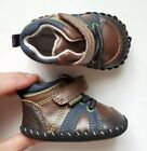Pediped Infant Baby Boy Crib Leather Shoes Size 0 3 6 Months 25 3 Blue Brown