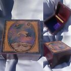 Galaxy Box, pyrography,woodburned 1 of a kind unique Trinket Box,Glitter accents