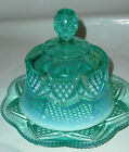 Covered Glass Butter Dish Mint Condition