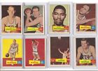 Lot of 8 1957-58 Topps Basketball G-VG Note miscut-Note trimmed