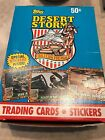 Topps Desert Storm Trading Cards Limited Edition 1991 Wax box Rare