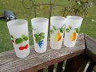 Federal Glass Frosted Hand Painted Drinking Glasses