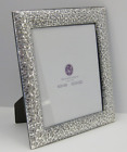 FINE ITALIAN 925 STERLING SILVER HAND EMBOSSED FLORAL 8 X 10 PICTURE FRAME