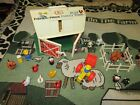 Vintage 1967 Fisher Price 915 Play Family Farm Barn Animals People Accessories