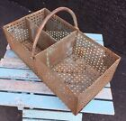 Fantastic Vintage French Metal Basket With Handle c.1910