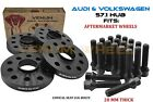 4pc 20MM Hubcentric Wheel Spacer Kit Fits 2000 2018 Audi TT Volkswagen GTI Golf