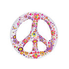 Peace Sign Inflatable Ring Float Swimming Pool Tube Air Lounge Raft Floatie Toy
