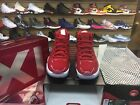 "Nike Mens Air Jordan XI Retro 11 WIN LIKE '96 ""Gym Red"" 378037-623 100%AUTHENTIC"