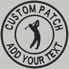 250 3504 5 inch BadgePatch Custom Embroidered Golf Shield Iron on Sew on