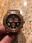 Invicta Mens 1852 Reserve Chronograph Black Dial Brown Leather MINT CONDITION