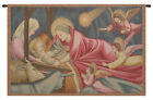 Woven Wall Hanging Tapestry Italian Nativity Giotto 24x34inch