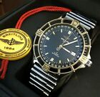 BREITLING WINDRIDER MEN'S J CLASS AUTO D10067 18K GOLD & STEEL W/  ROULEAUX BAND
