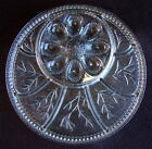 Vintage TREE of LIFE Relish Tray / Deviled EGG Platter / Clear - Heavy Glass