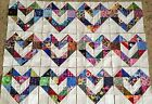12 Color Collection Scrappy Love Hearts Quilt Blocks 100 Cotton made in USA