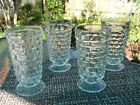 4 VTG Indiana Glass Whitehall Colony Cubist Clear 6