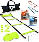 Pro Agility Speed Training Ladder and Cones15 ft Fixed Soccer Football Drills