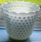 Vintage Anchor Hocking Oven Fire-King WARE Hobnail Milk Glass Planter USA RETRO