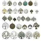10 Tree of Life Charms Antique Silver Bronze Connector Metal Pendants for DIY