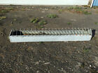 ANTIQUE GALVANIZED CHICKEN FEEDER TROUGH FARM 36